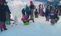 奥体南路上竟有会下雪的亲子动漫乐园?!