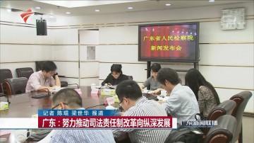 广东:努力推动司法责任制改革向纵深发展