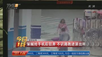 深圳龙岗:笨贼抢手机后狂奔 不识路跑进派出所
