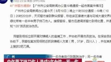 广州:中年男子持刀伤人造成2名女性一死一伤