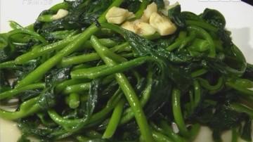 拍蒜生炒潺菜
