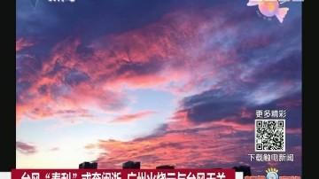 """台风""""泰利""""或奔闽浙 广州火烧云与台风无关"""