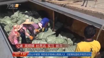 广东海警:5天查3起走私冻品案 牛肉鸡爪上百吨