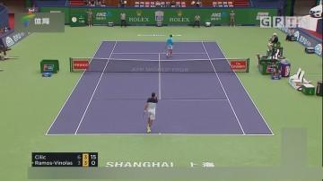 西里奇率先挺进上海大师赛男单四强