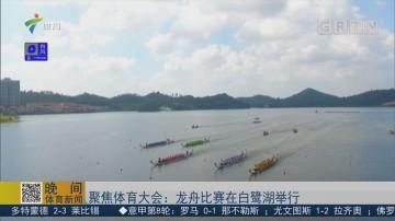 聚焦体育大会:龙舟比赛在白鹭湖举行