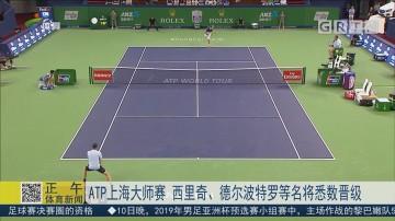 ATP上海大师赛 西里奇、德尔波特罗等名将将悉数晋级