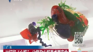 """广东:3D打印""""心脏"""" 让复杂心脏手术更安全"""