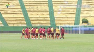 今日下午中国男足国家队在越秀山体育场进行了集训后的第二堂训练课