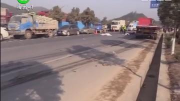 [2018-01-03]民生820:206国道摩托车货车相撞 2人当场身亡