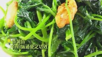 制作蒜蓉炒番薯苗