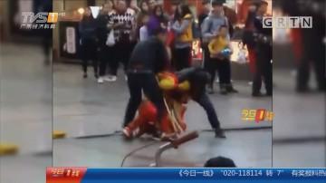 """惠州惠城区:""""孙悟空""""街头被打 警方介入调查"""