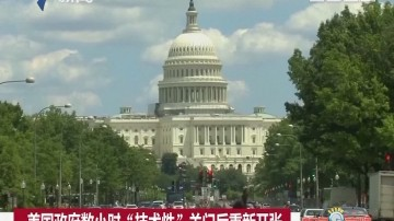 """美国政府数小时""""技术性""""关门后重新开张"""