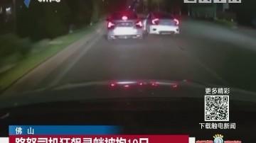 佛山:路怒司机狂飙寻衅被拘10日
