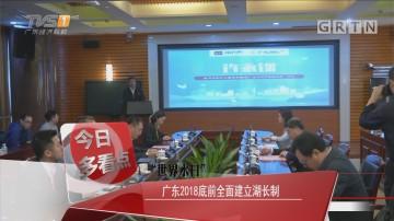 """""""世界水日""""广东2018底前全面建立湖长制"""