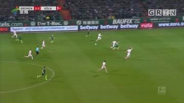德甲保级抢分大战 不莱梅完胜科隆