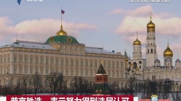 普京胜选:表示努力得到选民认可