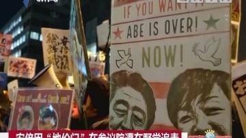 """安倍因""""地价门""""在参议院遭在野党追责"""
