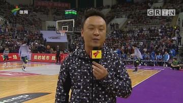 现场连线广东体育频道记者