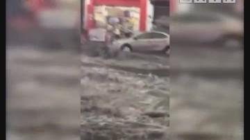 东莞:昨日暴雨袭城 多镇街遭遇水浸街