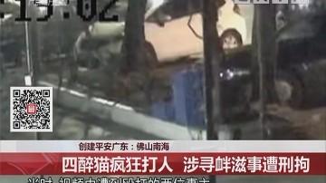 创建平安广东:佛山南海 四醉猫疯狂打人 涉寻衅滋事遭刑拘