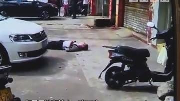 中山:男子三楼坠下 砸中小车吓坏街坊