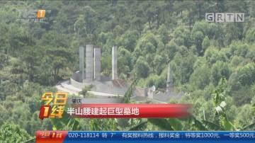 肇庆:半山腰建起巨型墓地