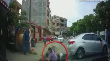 东莞:撞到了人还想跑 热心市民一路拦截肇事车