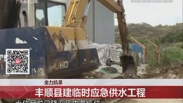 全力抗旱:丰顺县建临时应急供水工程