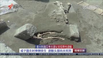 意大利庞贝考古遗址发现男性遗骸:或于逃生时摔倒丧生 遗骸头部尚未扎到