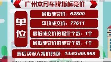 破5万!广州本月车牌竞价结果出炉