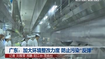 """广东:加大环境整改力度 防止污染""""反弹"""""""