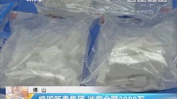 佛山:捣毁贩毒集团 涉案金额2000万