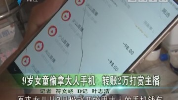9岁女童偷拿大人手机 转账2万打赏主播
