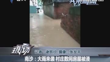 南沙:大雨来袭 村庄数间房屋被浸