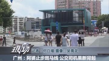 广州:阿婆止步斑马线 公交司机果断背起