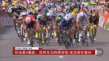 环法第4赛段:范阿韦马特再夺冠 成功保住黄衫