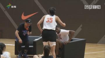 杜兰特广州行为高中女篮传授技艺