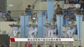 奥运冠军助力省运会跳水赛场