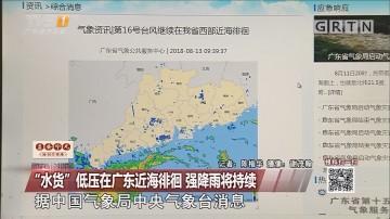 """""""水货""""低压在广东近海徘徊 强降雨将持续"""