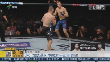 UFC 加瑟基闪电KO对手止两连败