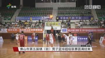 佛山市第五届镇(街)男子篮球超级联赛圆满结束