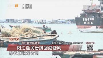 秋台风双双来袭:阳江渔民纷纷回港避风