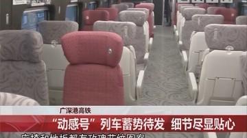 """广深港高铁:""""动感号""""列车蓄势待发 细节尽显贴心"""