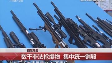 扫黑除恶:数千非法枪爆物 集中统一销毁