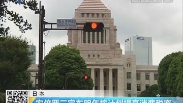 日本:安倍晋三宣布明年按计划提高消费税率