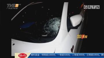 关注交通安全:东莞 不走天桥横穿马路 男子被车撞