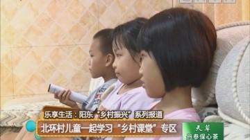 """乐享生活:阳东""""乡村振兴""""系列报道 北环村儿童一起学习""""乡村课堂""""专区"""