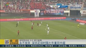 永不放弃 深圳足球时隔七年重回中超