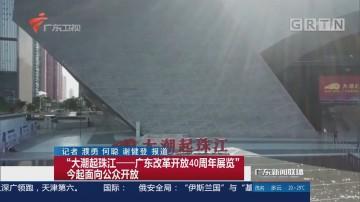 """""""大潮起珠江——广东改革开放40周年展览""""今起面向公众开放"""
