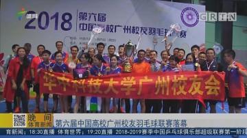 第六届中国高校广州校友羽毛球联赛落幕
